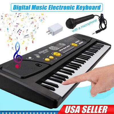 61-Key Digital Music Piano Keyboard - Portable Electronic Musical Instrument US