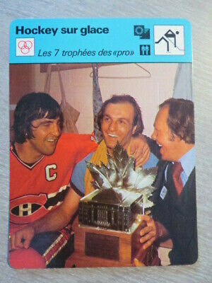 Sportscaster Card ICE HOCKEY LAFLEUR COURNOYER  montreal canadiens FRENCH L124X