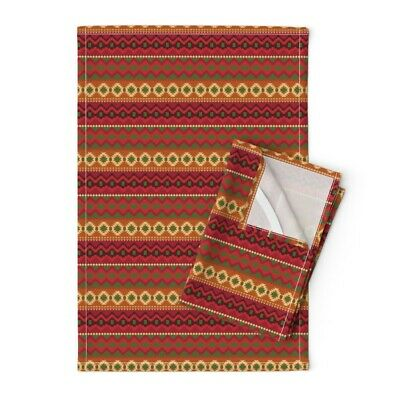 Cloth Placemats Mexican Indigenous Ethnic Native Scarlet Original Set of 2