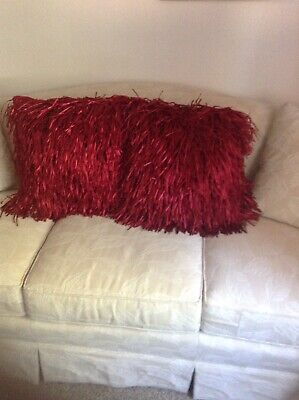 Satin Shag Fringe Pillows