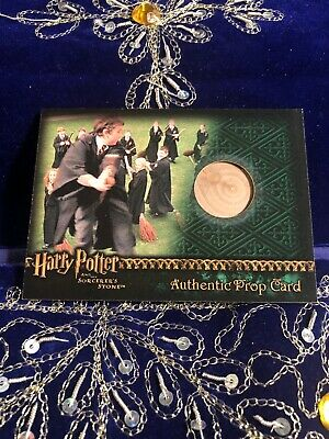 Harry Potter & the Sorcerers Stone Authentic Prop Card Practice Broom
