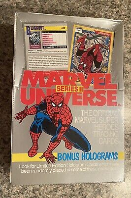 NEW 1991 MARVEL UNIVERSE SERIES II 2 TRADING CARDS FACTORY SEALED by IMPEL