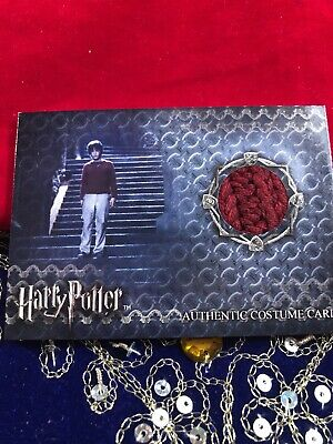 Harry Potter & the Sorcerers Stone Authentic Costume Card Worn By Harry Potter