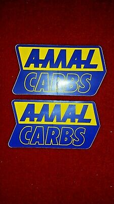 Size 100mm x 53mm New, AMAL Carb Stickers x 2