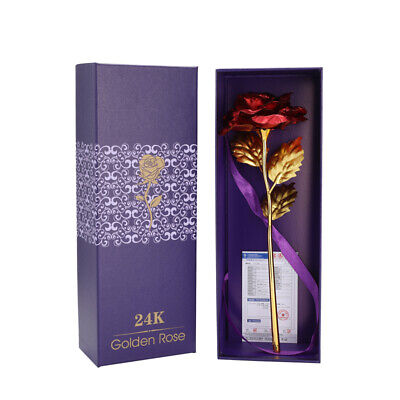 Box 24K Eternal Gold Dipped Rose ADORE INFINITY ROSE Valentine/'s Day Best Gift