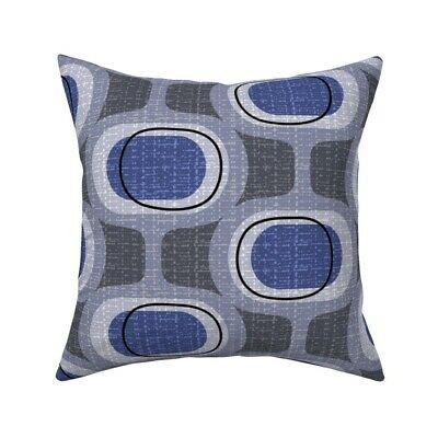 Groovy Retro Mcm Moddeco Throw Pillow Cover w Optional Insert by Roostery