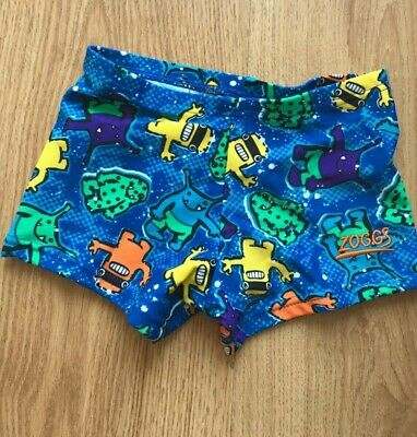 Zoggs Boys Douglas Hip Racer Swimming Brief Shorts Aged 8-9 Fitted Trunks Lesson