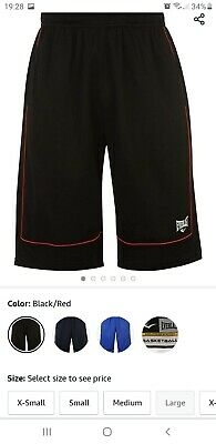 Everlast Mens Basketball Shorts Pants Trousers Bottoms Breathable Mesh Loose Fit Black//Red XXXXL