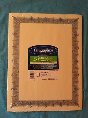2 Packs Geographics Optima Green Certificates and Seals 39452 Pack of 25