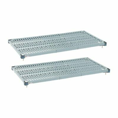 Metro Max Q Shelves - Epoxy Coated - Removable Mats - 1520 x 610 mm - 2 pc
