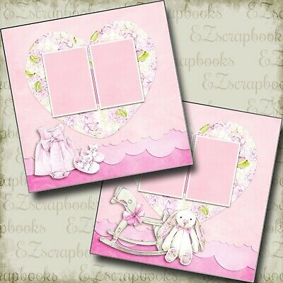 EZ Layout 778 BEACH BABY GIRL 2 Premade Scrapbook Pages