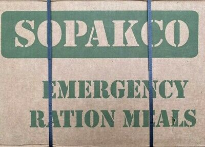SOPAKCO Case of 16 MRE's Meals Ready To Eat  low sodium  8/2023  *FREE SHIPPING*