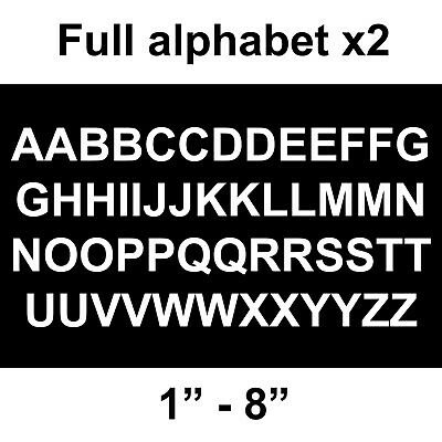 1x Very small 5mm white letter vinyl alphabet stickers and numbers scrapbooking