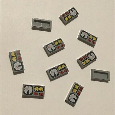 Gauges Pattern LEGO Light Bluish Gray Tile 1x2 100 to 1000 Pieces -