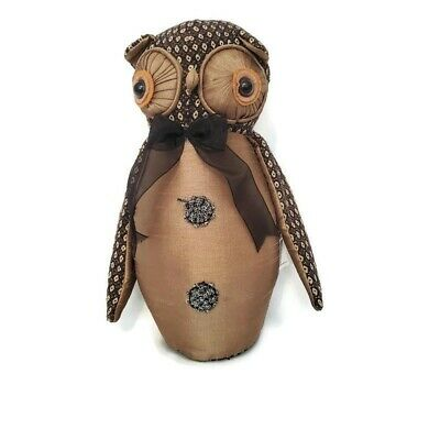 Weighted Owl Door Stopper Novelty Cute Animal Fabric Stop Wedge Draught Heavy 11 19 Picclick Uk