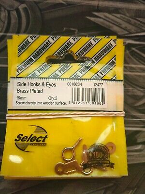 * PACK OF 4 X SIDE HOOKS /& EYES EB 25MM LEFT AND RIGHT 9G6 9G7