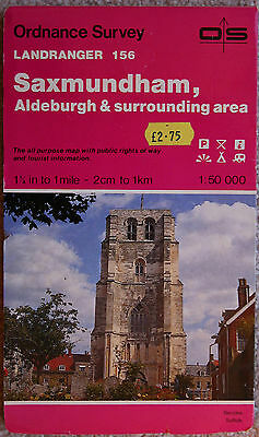 Ordnance Survey Landranger Map 156 Saxmundham and Aldeburgh 1:50000 1984 OS UK