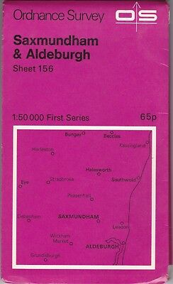 Ordnance Survey Landranger Map Sheet 156 Saxmundham & Aldeburgh OS First Series