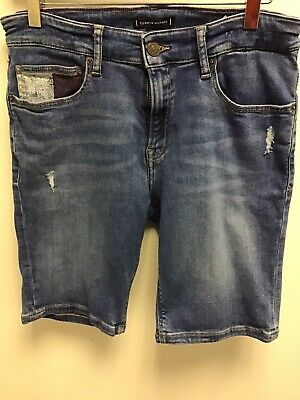 Tommy Hilfiger Childrens Stretchy Denim Slim Tapered  Shorts Age 16