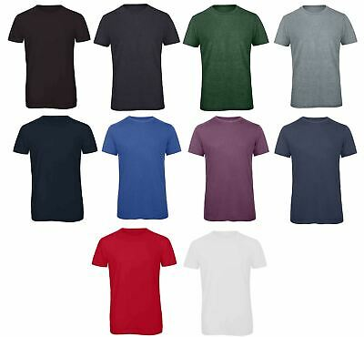 B&C Collection Men's Triblend T-Shirt TM055 - Plain Cotton Soft Lightweight Tee