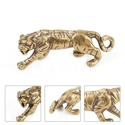 Solid Brass Tiger Figurine Small Tiger Statue House Ornament Animal Figurines