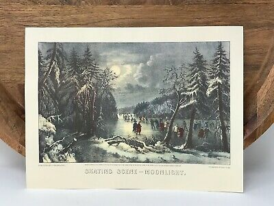 Published by Currier /& Ives 1870 Currier and Ives 152 Nassau ST New York Currier and Ives Skating Scene Moonlight