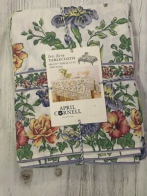 2 ~SHADES OF BLUE ON YELLOW~NWT! APRIL CORNELL~KITCHEN TEA TOWELS~SET OF TWO