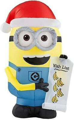 Illumination entertainment Despicable Me Minion Made Stuart inflatable Christmas decor 7.5 FT Tall