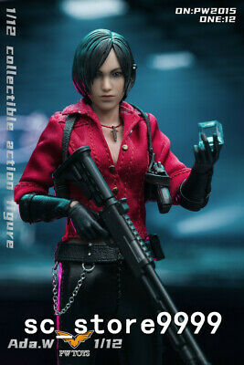 "1//6 12/"" The Third Party Brand Ada Wong ver1 Resident Evil 6 in RED Cheongsam"