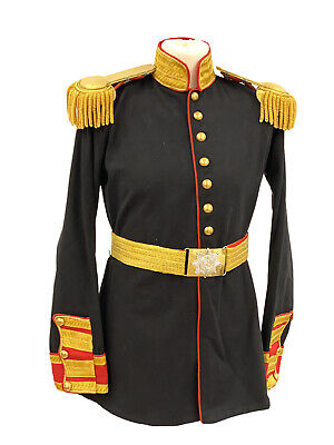 """Military Steampunk Black/Red Jacket With Brass Buttons  In 40"""",42""""44""""46"""""""