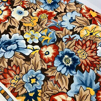 Vintage Fabric Flair VAT Colored Screen Print Remnant Sewing Material