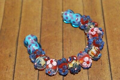 12mm New 15 pc set Fine LGL114 Handcrafted Murano Lampwork Glass Beads