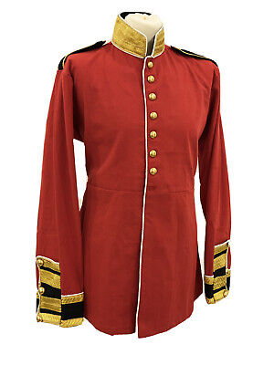 """Military Steampunk Red/Black Jacket With Brass Buttons  In 40"""",42""""44""""46"""""""