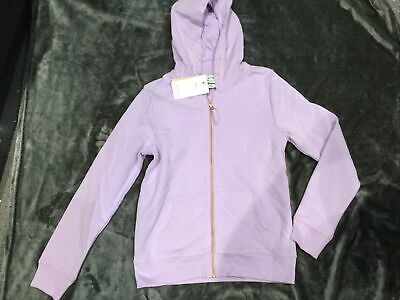 M&S Girls Sweatshirt Hoodie Zipper BNWT Age 11-12 Years Lilac Colour