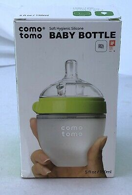 Comotomo Slow Flow Anti-Colic BPA Free Baby Bottle Green 5 Ounce 1-Count