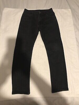 Boys George Black Tapered Leg Jeans Age 10-11 Years
