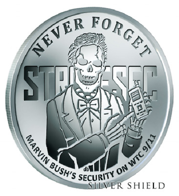 1 oz 2017 Lucky Larry Proof Never Forget #6 Silver Shield COA Mintage ONLY 696