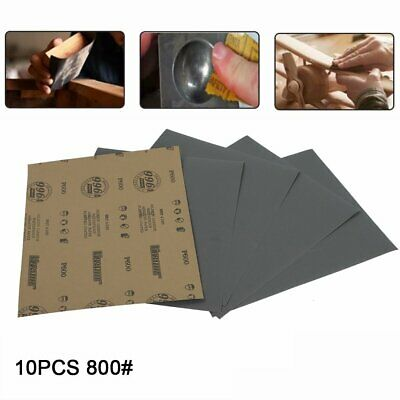 """Grits800 9x11"""" x 10 SANDING SHEETS Wet/Dry Silicon Carbide Waterproof Sandpaper"""