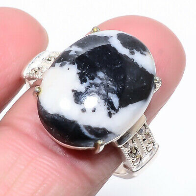 chocolate jasper oval cut 16Cts ring in 18K yellow gold plated size O//N//M//P