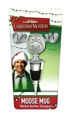 "Marty Moose Mug Christmas Vacation 5.5/"" Metal Silver Bottle Opener Sealed New"