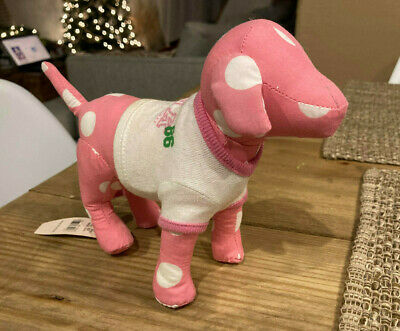 Victoria Secret Pink Happy Dog Green With Back Spots Excellent