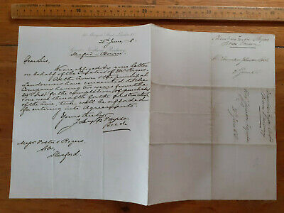 1868 Great Northern Railway letter Bourne & Sleaford to landowners solicitor GNR