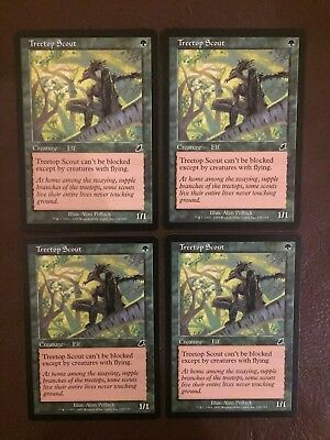 4 Treetop Scout ~ Green Scourge Mtg Magic Common 4x x4