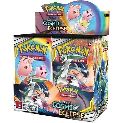 Pokemon TCG Sun & Moon Cosmic Eclipse Sealed Booster Box New Trading Card Game