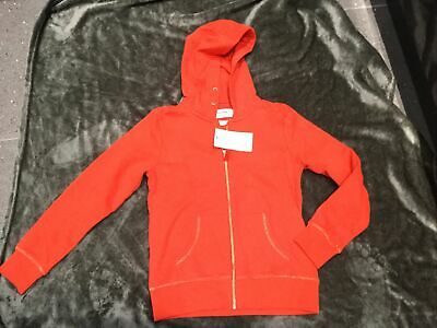 M&S Girls Sweatshirt Hoodie Zipper BNWT Age 11-12 Years Red Colour