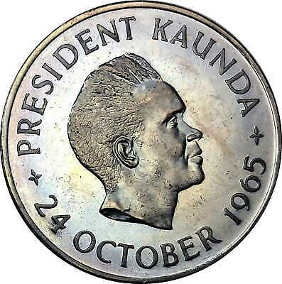 1965 Zambia 5 Shillings KM# 4 GEM Proof Coin 20k Minted