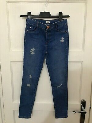 RIVER ISLAND boys DISTRESSED skinny jeans AGE 9 YEARS