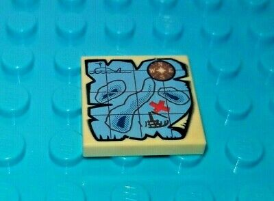 Lego Lot of 12 Square 2x2 Tiles w printed patten maps space explorers b