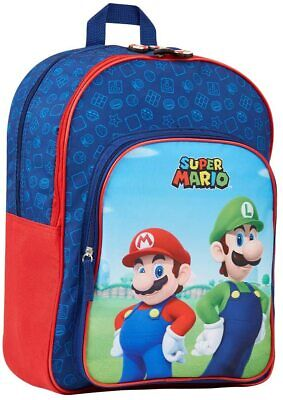 Mario Theme 3D Print Kids Backpack Combo Lot Schoolbag Lunch Tote Case Pen Case