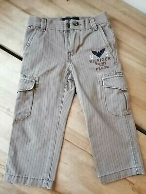 Tommy Hilfiger Boys Toddlers Beige Cargo Pants Trousers 2-3 years 2T VGC